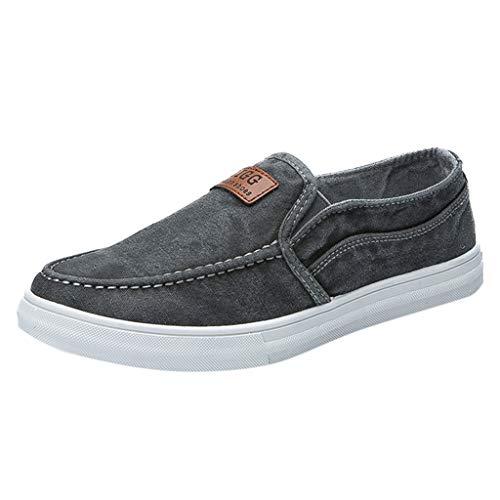 Hombres Lona Zapatos Plano Suave Ligero Casual para Caminar Zapatos Sneaker Alpargatas Comodidad Hombres...