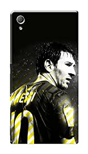 Sony Xperia Z3 Plus Black Hard Printed Case Cover by HACHI - Messi Football Fans design