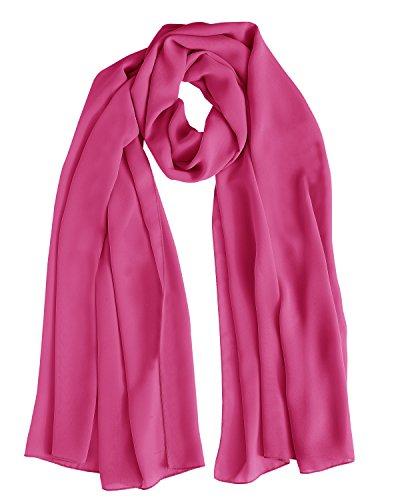 Bridesmay Chiffon Stola Schal für Hochzeit in verschiedenen Farben Rose L 200cm*75cm (Chiffon Silk Scarve)