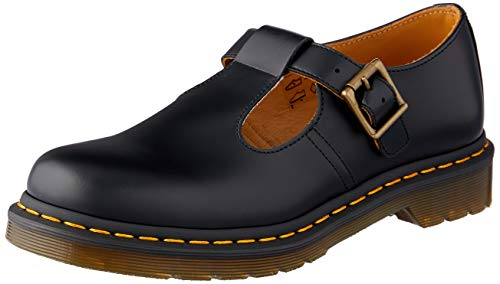 Dr Martens -14852001- Polley Smooth, Sandali Donna, Nero, 41