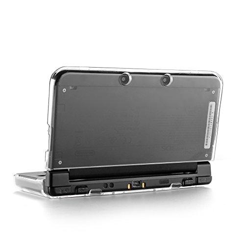 TNP Produkte 3DS Fall-Kunststoff + Aluminium Full Body Schutz Snap on Hard Shell Haut Schutzhülle für Nintendo 3DS 2015, transparent, Nintendo 3DS XL (2015 Model)