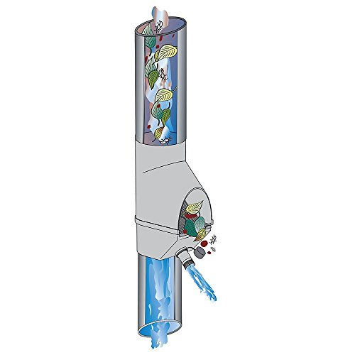 Regenwasserfilter Laubabscheider mit Füllfunktion braun für Blechfallrohre Ø 80 und 100 mm. Verhindert das Zusetzen und Verstopfen von Fallrohren durch Grobschmutz wie Laub, Äste und Moos.