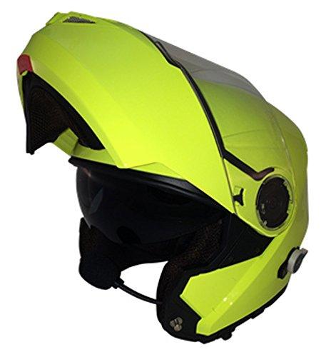 Viper Casco para Motocicleta con Altavoces Bluetooth, Amarillo, XS
