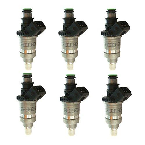 jrl lot de 6 injecteurs de carburant 65l-13761 - 00 - 00 pour Yamaha 150/200/225 HP de 2 temps