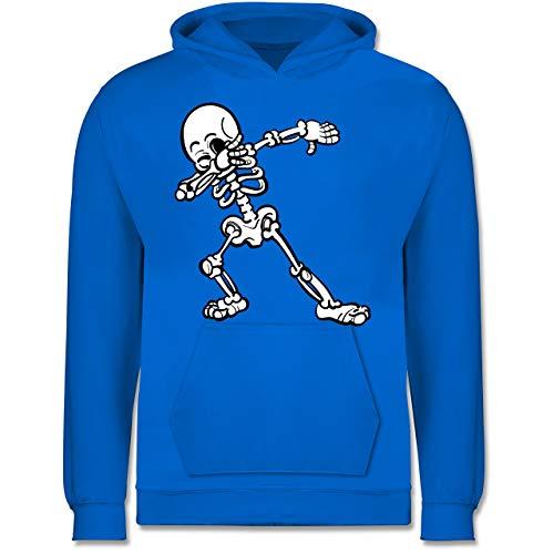 Shirtracer Anlässe Kinder - Dabbing Skelett - 12-13 Jahre (152) - Himmelblau - JH001K - Kinder Hoodie