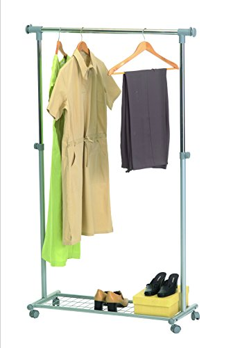 Demeyere 8620 Metallgarderobenständer, ausziehbare Kleiderstange, Ping auf Rollen