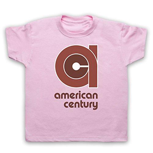 vinyl-american-century-record-label-camiseta-para-ninos-rosa-claro-12-13-anos