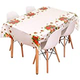 Christmas Patterned Disposable PVC Tablecloth Extra Large Rectangular Table Cover Home Kitchen Dinning Table Decoration Santa & Snowman & Reindeer