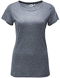 Object Damen T-Shirt Kurzarm Basic Shirt O-Neck