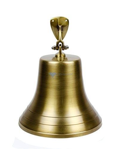 Antike Schiff Glocke (27,9cm Messing antik gebürstet Nautisches Piraten 's Boot Schiff 's Decor Bell | Maritime massivem Messing funktionelle Bell | NAGINA International)