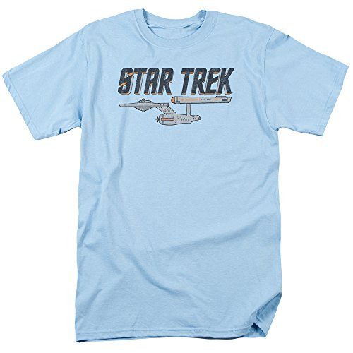 Star Trek Herren T-Shirt Hellblau