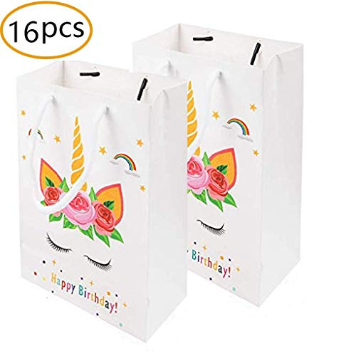 fef9175015d5 MEANTOBE Unicorn Gift Bags Unicorn Birthday Party Supplies Favor Good for  Filling with Goodies Candy Glitter 16 Pack