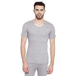 MenS Milange Grey Thermal Top