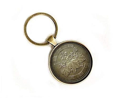 Xubu - Llaveros de Monedas Vintage, 500 yenes, llaveros de Moneda inversa,...