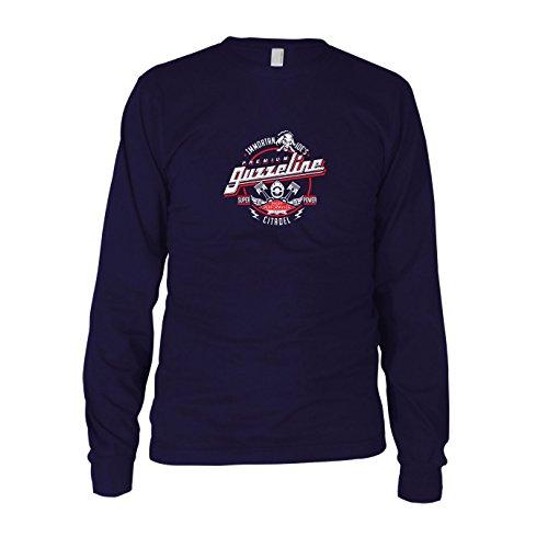 Immortan Joe's Premium Guzzeline - Herren Langarm T-Shirt, Größe: L, dunkelblau (Gibson Langarm-shirt)