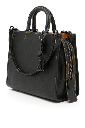 Handtaschen Coach rogue Damen - Leder (38124BPBLK) - Coach Pebble Schwarz Leder