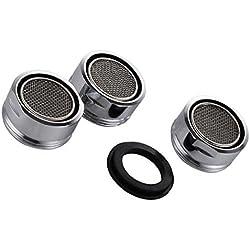 3 pièces Filtre à robinet d'économie d'eau accessoires robinet Diffuseur Filtre de Robinet avec joint d'étanchéité Pour cuisine et salle de bain