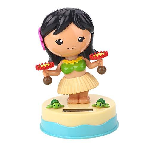 Solar Kreative Schaukel Little Girl Puppe Auto Dekoration Stil # 3 Puppe Spielzeug Bobbling Girl Solar Powered Gadget Geschenk - Solar Powered Gadgets