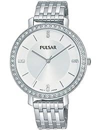 Pulsar Women's Silver Stainless Steel Bracelet Watch PH8155X1