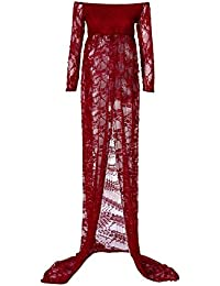 Umstandskleid, Sannysis Damen Schwangere Fotografie langes Kleid Schwangere Kleidung Fotoshooting Schwangere Kleid Shooting Schwangere Kleider Für Hochzeit Schwangere Kleid Festlich