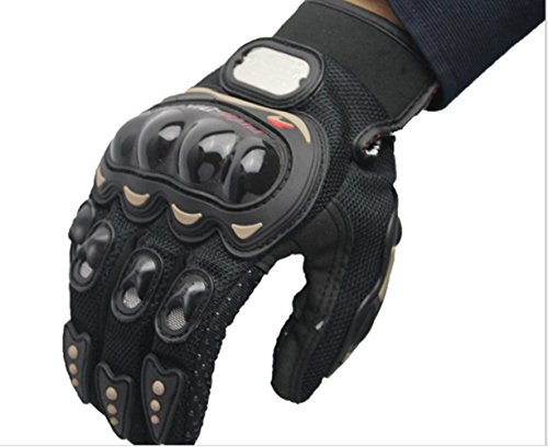 Swallowuk Outdoor Sport Motorrad Fahrrad Handschuhe Full Finger Fahrrad Handschuhe Racing (M, schwarz)