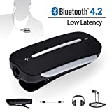 Avantree aptx Low Latency Bluetooth 4.2 Audio Adapter Empfänger für Kopfhörer, 3.5mm Wireless Receiver für kabelgebundene Ohrhörer Headphones, mit Mikrofon für Anrufe und Musik - Clipper Pro