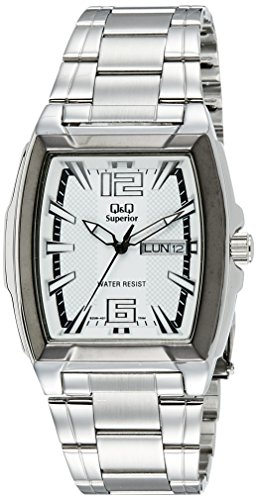 Q&Q Shogun Analog White Dial Men's Watch - S208-401Y image