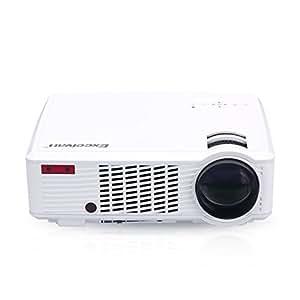 Excelvan 33+ LED Videoproiettore Portabile (2600 Lumens 850x800 Home Cinema Theater con 5,0 pollici LCD TFT Display, supporto 3D, 1080P, HDMI, VGA, USB, DVD, Xbox, PS4, PC, Laptop, Smartphone) Bianco
