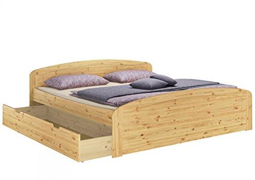 Funktionsbett 180×200 Doppelbett + Bettkasten Federholzrahmen Matratze Bettzeug 60.50-18 MB FV