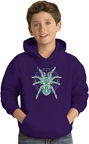 Spider Kinder Leicht Kapuzenpullover Lightweight Hoodie For Kids | 80% Cotton-20%Polyester| 5-6 yrs (Hoodie Spider Kids)
