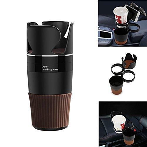 kasit Getränkehalter Multifunktional Getränkehalter Fahrzeug Aufbewahrungsbox Handy Becherhalter Brillenhalter für Trank, Kaffe,Kleine Dinger(Schwarz) ¡