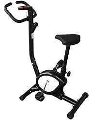 HappGrand Heimtrainer Fitness Fahrrad Klein Fitnessbike Einstellbare Fahrradtrainer mit LCD Display, Benutzergewicht bis 120 kg