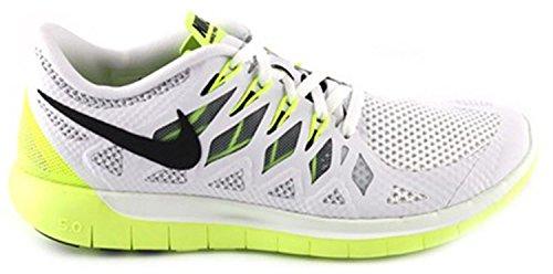 Nike Free 5.0, Damen Laufschuhe - blanco/naranja