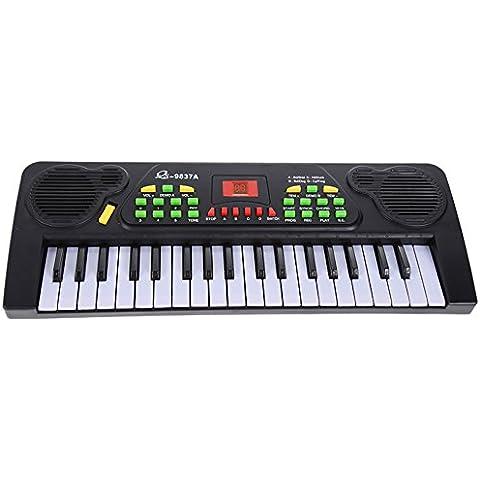 Vultera (TM) 37 tasti della tastiera di musica elettronica Kid elettrica Piano Organo W / Mic & Alimentatore, strumenti musicali, giocattoli per bambini di musica, regalo per il capretto FCI #