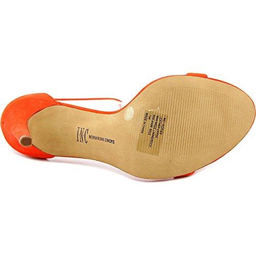 INC International Concepts Rosiee Damen Leder Sandale Orange/Papaya
