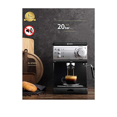 Kaffeemaschine Vollautomaten Espresso, Glass Coffee Maker, Kaffeemaschine Mit Mahlwerk, 10 Cups, 850 W, Modern Design, Black with Stainless Steel Applications