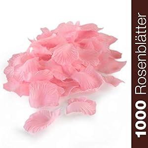 WeddingTree 1000 Pétalos de Rosa Sueltos Rosa – Ideales para Bodas, día de San Valentín, cumpleaños, Fiestas y decoración romántica