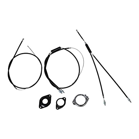 Brake Line - SODIAL(R) BMX brake cable (front + rear) Extra Long gyro rotor spinner