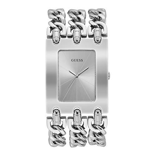 Guess Damen Analog Quarz Uhr mit Edelstahl Armband W1274L1