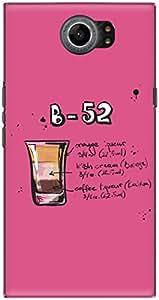 The Racoon Lean printed designer hard back mobile phone case cover for Blackberry Priv. (Pink B52)