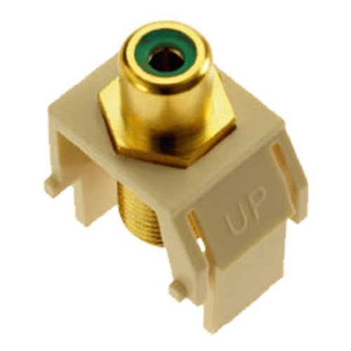 OnQ / Legrand WP3463LA Green RCA to FConnector, Light Almond by On-Q/Legrand