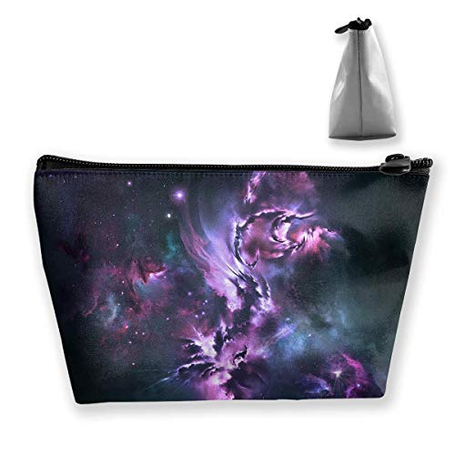 Makeup Bag Cosmetic Space Abstract Light Portable Cosmetic Bag Mobile Trapezoidal Storage Bag Travel Bags with Zipper