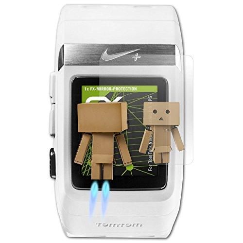 atFoliX Bildschirmfolie kompatibel mit Tomtom Nike+ SportWatch GPS Spiegelfolie, Spiegeleffekt FX Schutzfolie