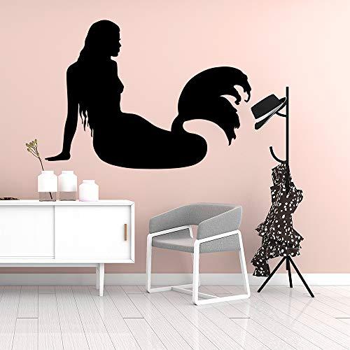 Cartoon Schöne Meerjungfrau Vinyl Tapetenbahn Möbel Dekorative Schlafzimmer Kinderzimmer Dekoration Wandaufkleber Aus Hausgarten Gold L 43 cm X 59 cm