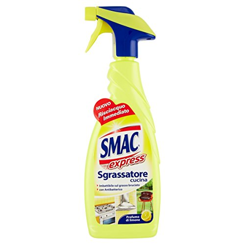 Smac Express Sgrassatore Cucina, Imbattibile sul Grasso Bruciato, con Antibatterico, Profumo di Limone - 650 ml