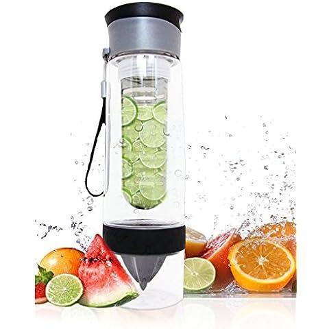 Premium Dual frutta Infusion-Borraccia da Sport, 700 ml, con infusore per versare l'frutta e agrumi (Berry Water Garden)