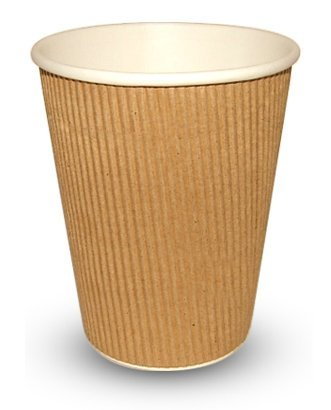 12oz Kraft Ripple Disposable Cups (100 cups) by Other