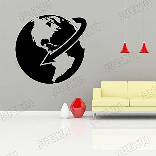 yaoxingfu Erde Rotation Pfeil Entfernbare Wandaufkleber Für Wohnzimmer Kunst Dekoration Für Home Vinyl Wandtattoos Hintergrund Poster Karte Farbe 57X57 cm