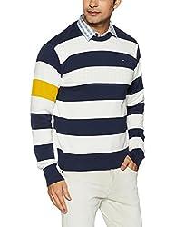 Lee Mens Cotton Sweater (8907649224502_L29019CB0L0600S_Jsw-Peacoat)