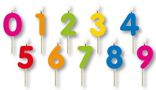 n auf Holzpick mit Zahlen 0-9 kleine Picker für Kuchen o ()